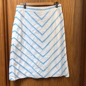 Ribbon embellished skirt